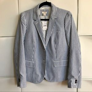 J.Crew Blazer blue and white stripes 12